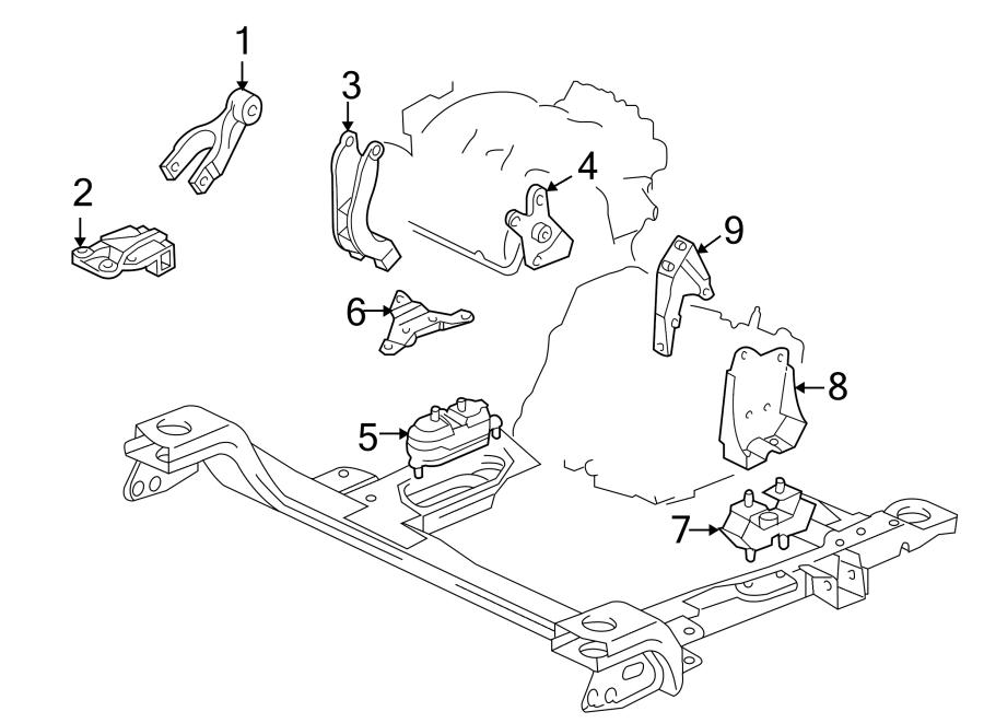 Buick Terraza Automatic Transmission Mount. LITER, ENGINE