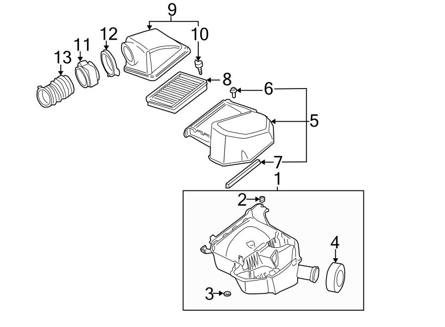 Cadillac Deville Air Filter Housing Bolt (Lower). 3.5