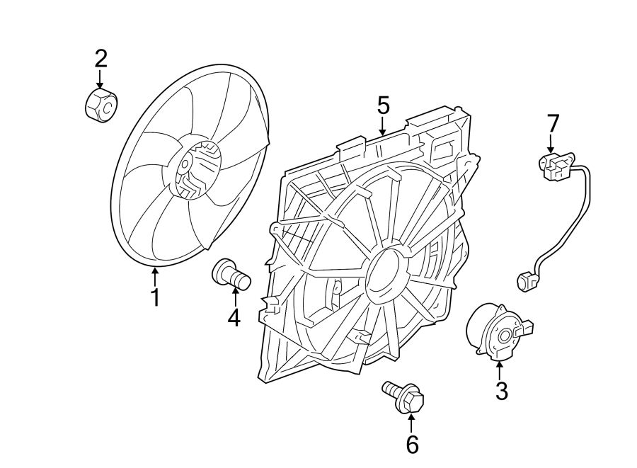 Cadillac CTS Engine Cooling Fan Blade. LITER, Main, DUTY