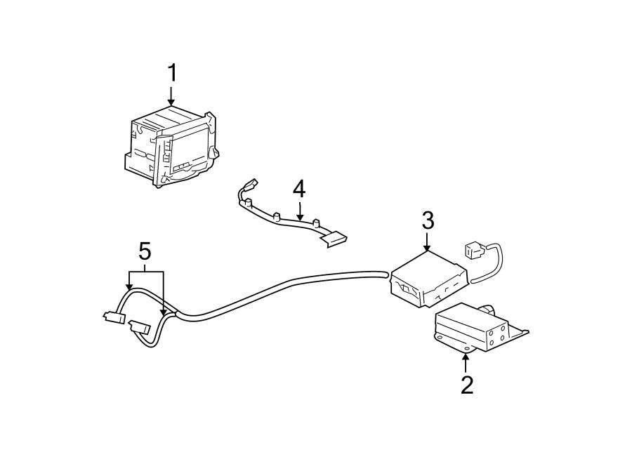 Cadillac CTS Gps navigation system antenna cable. Gps