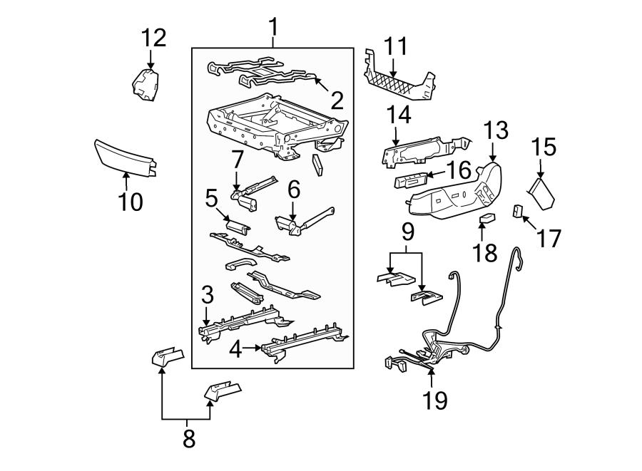 Cadillac CTS Power Seat Wiring Harness. LUMBAR, DRIVER