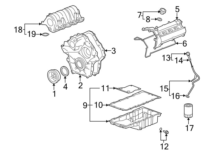 2006 Cadillac DTS Engine Intake Manifold Gasket. 4.6 LITER