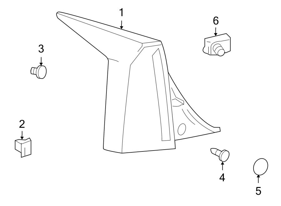 Cadillac XLR Lamp. Tail. Light Assembly. Combo ASSEMBLY