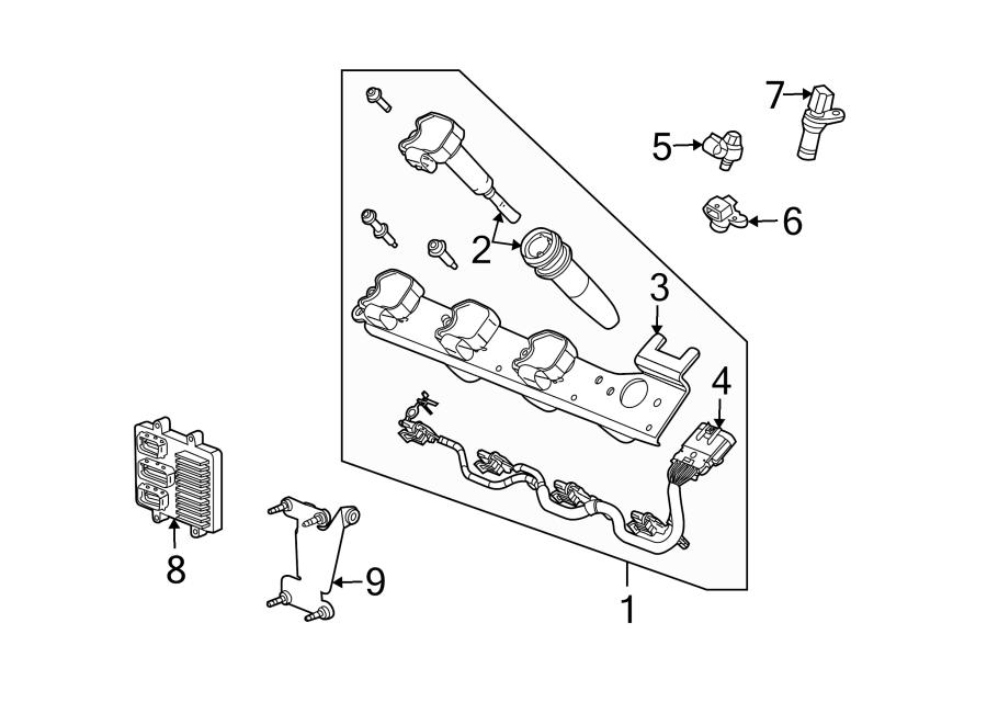 Cadillac SRX Engine Crankshaft Position Sensor. Liter