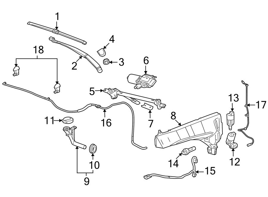 Cadillac SRX Washer Fluid Level Sensor. Level indicator