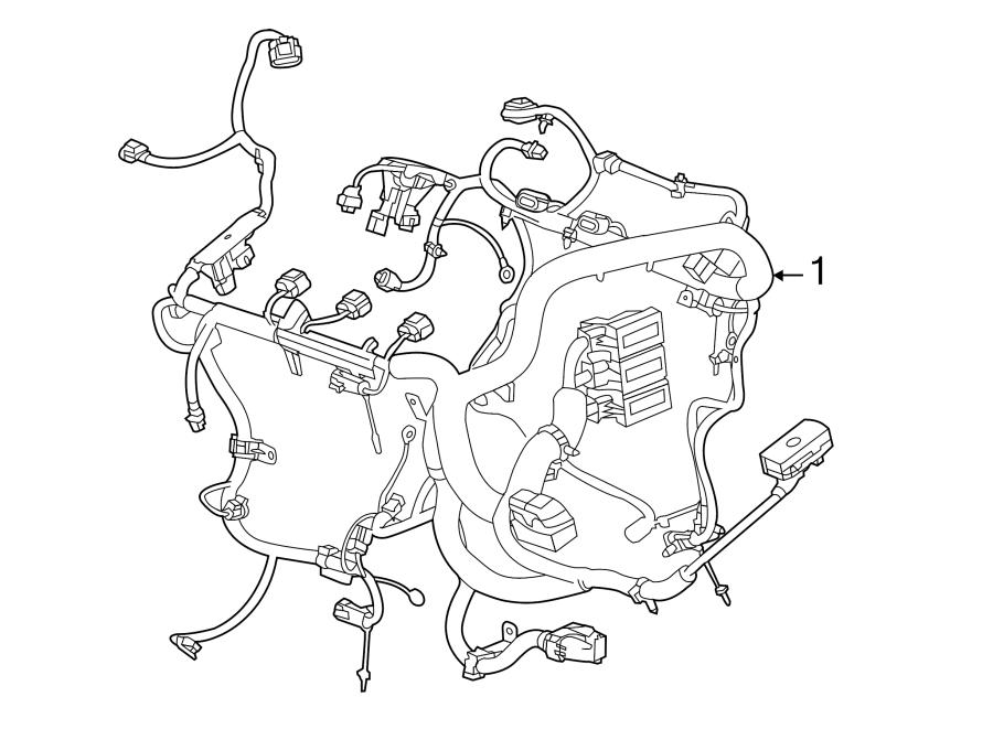 Cadillac XTS Engine harness. Engine Wiring Harness. W/twin