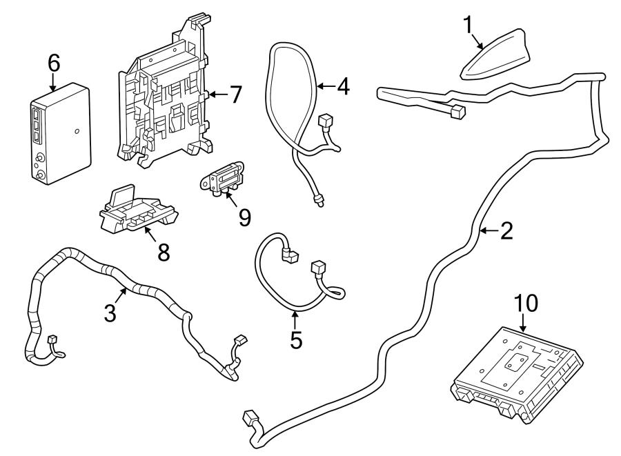 Cadillac ELR Gps navigation control module. Radio antenna