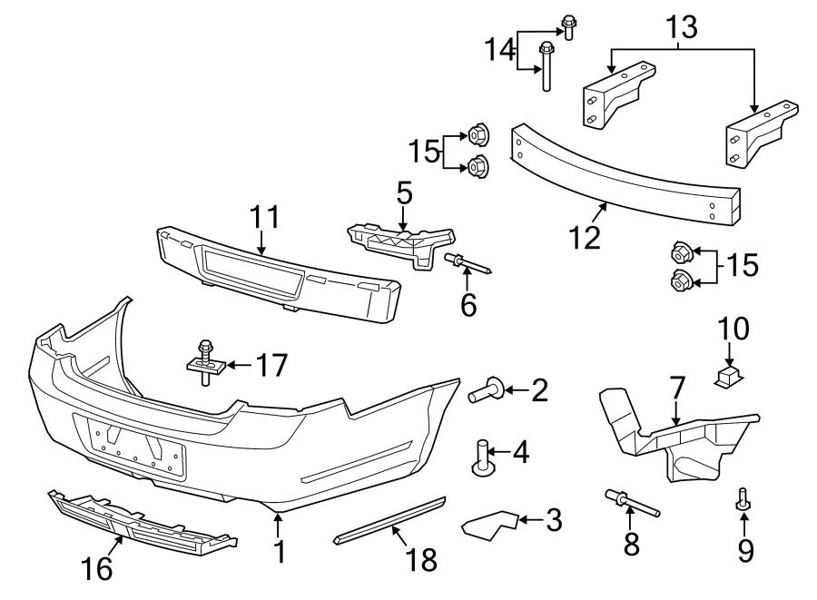 Chevrolet Caprice Bumper Impact Bar Bracket (Rear, Lower