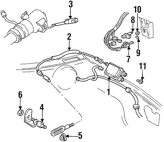 1988 Chevrolet Caprice Brake Light Switch. Release switch