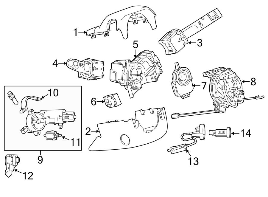 Chevrolet Impala Steering Column Cover (Upper). Impala; w