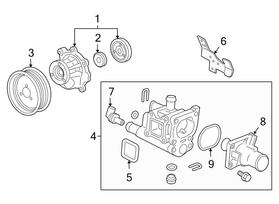 Chevrolet Cruze Engine Water Pump Pulley. 1.8 LITER