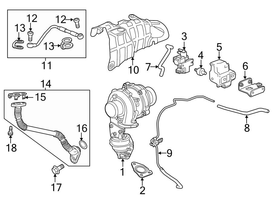Chevrolet Cruze Vacuum Line. 2.0 LITER TURBO DIESEL, #3