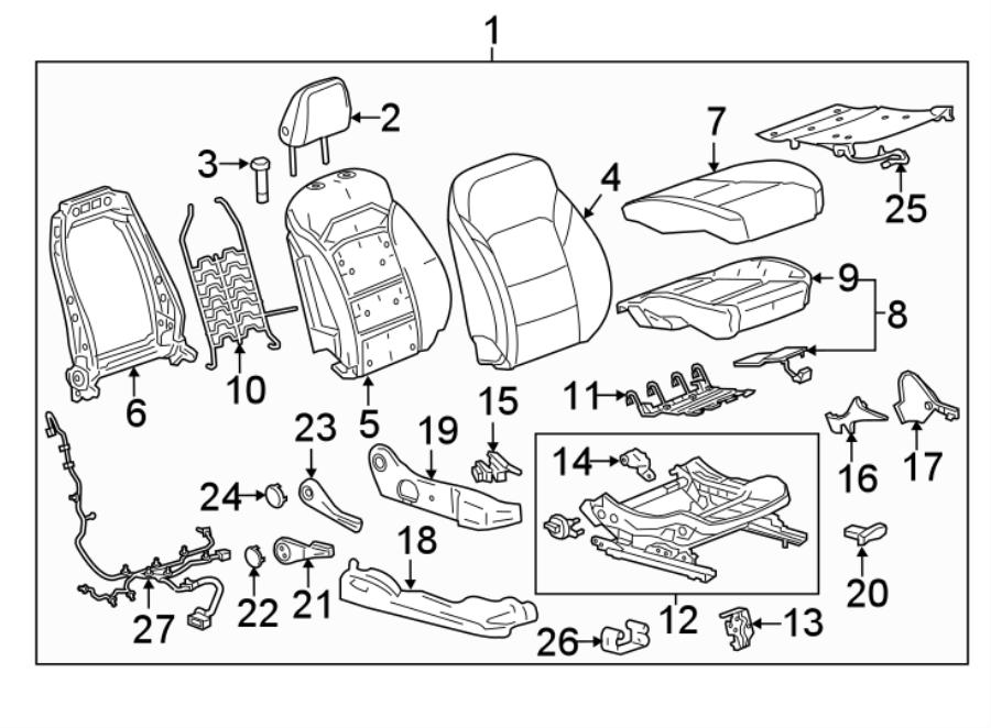 Chevrolet Cruze Seat Trim Panel. 4-way adjust, atmosphere