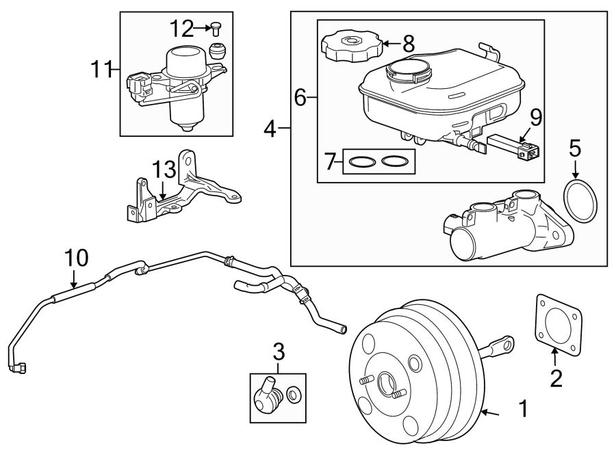 Chevrolet Camaro Brake Vacuum Hose. 3.6 LITER, w/perf