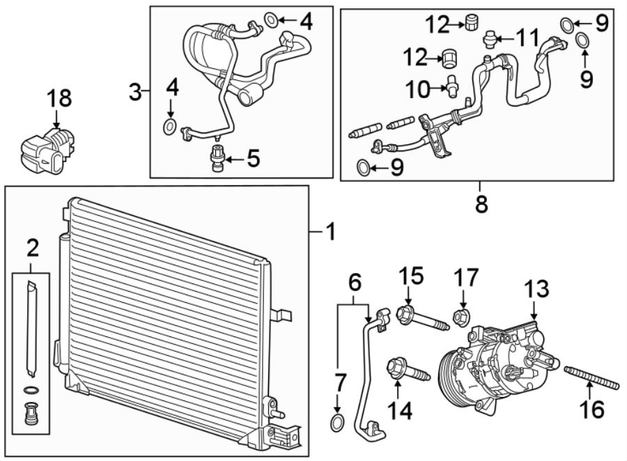 Chevrolet Camaro A/c refrigerant suction hose. Liter, gwp
