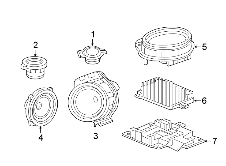 Chevrolet Camaro Speaker. SPEAKERS, w/Bose audio. SPEAKERS