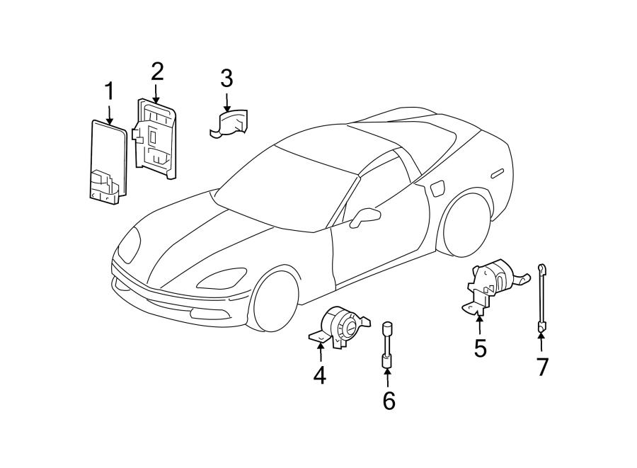 Chevrolet Corvette Suspension Ride Height Sensor (Front