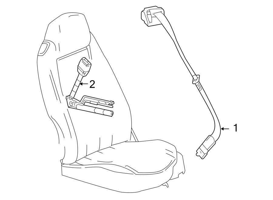 2007 Chevrolet Seat Belt Lap and Shoulder Belt. COUPE, red