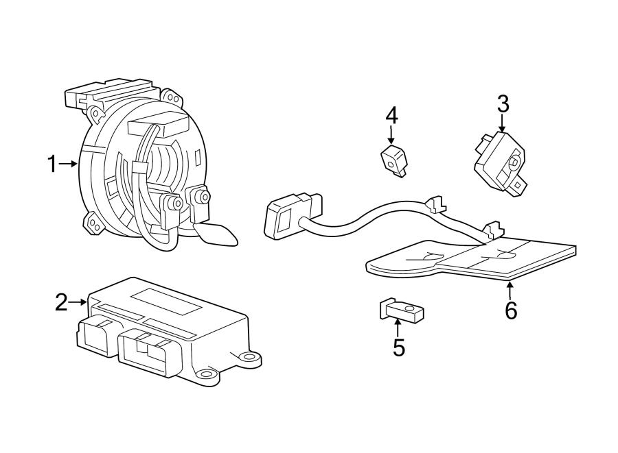 2016 Chevrolet Corvette Air Bag Impact Sensor (Rear