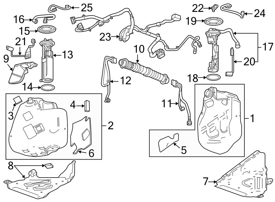 Chevrolet Corvette Fuel Pump Connector. Fuel Pump Wiring