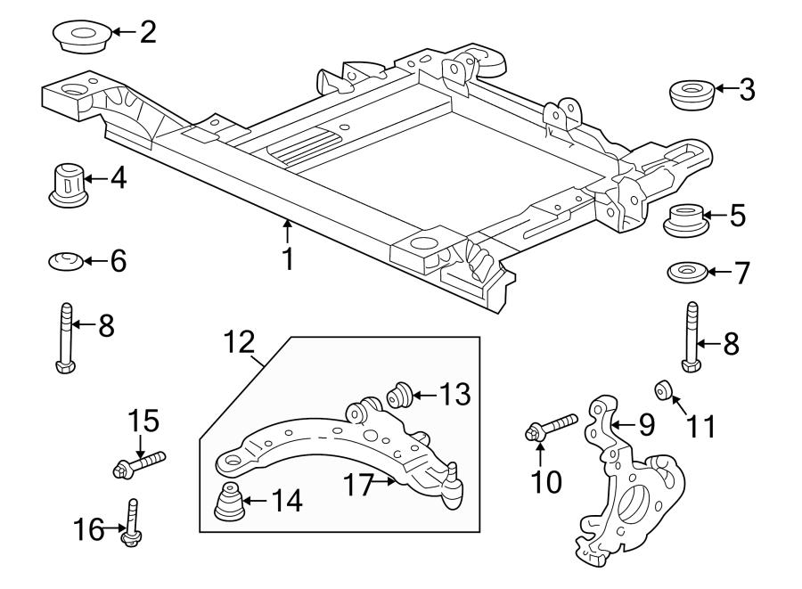 Oldsmobile Intrigue Engine Cradle Bolt Washer (Front, Rear