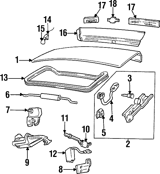 Chevrolet Monte Carlo Lock. Cylinder. FireBIRD & FormULA