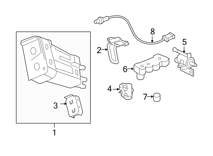 Chevrolet HHR Manifold Absolute Pressure Sensor Seal. 1/2