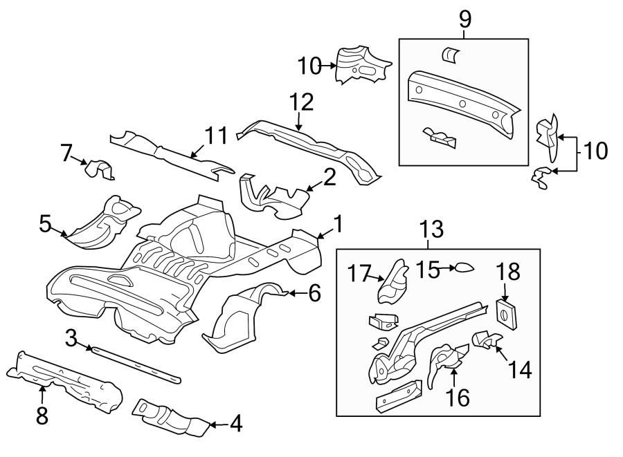 Chevrolet HHR Floor Pan (Front, Rear). Seat, BODY