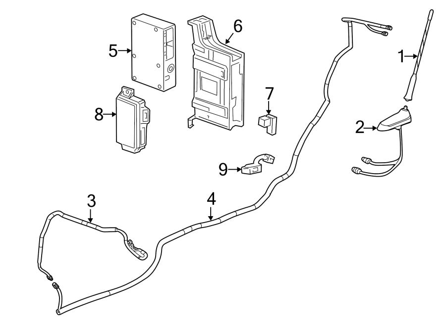 Chevrolet Sonic Radio Antenna Base. ONSTAR, hatchback. W
