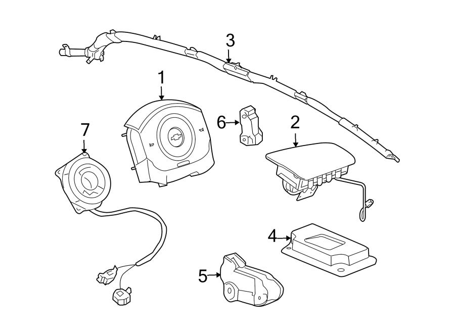 2006 Chevrolet Cobalt Air Bag Control Module. Restraint