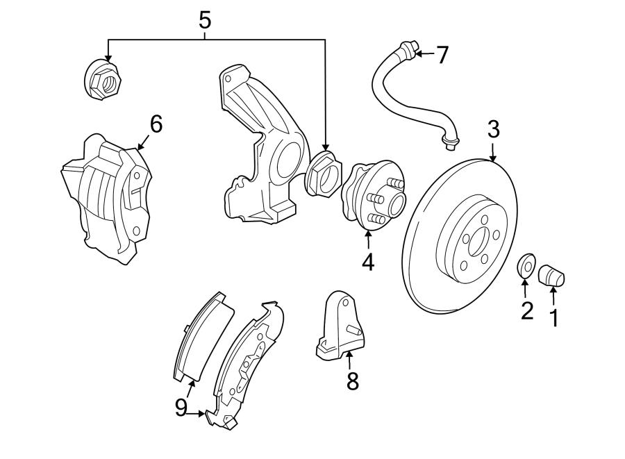 2000 Disc Brake Pad Set (Front). Pads, SUSPENSION