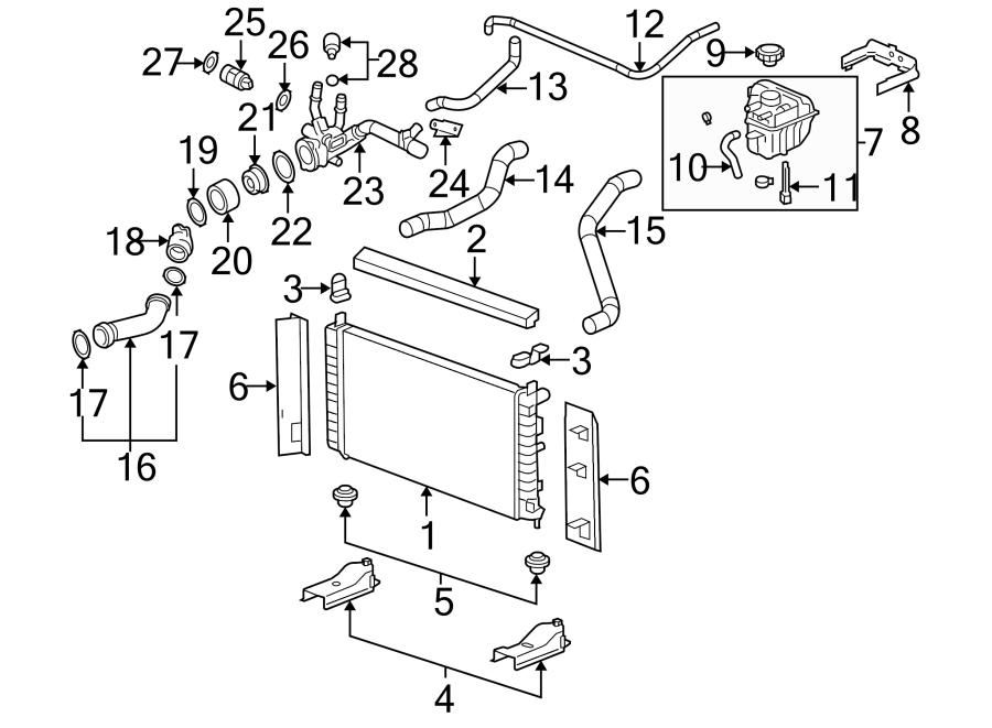 Chevrolet Malibu Radiator. 2.2 LITER, 2004-05. 2.2 LITER