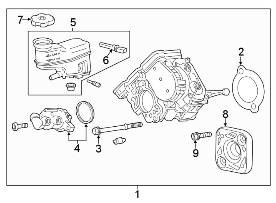 Chevrolet Malibu Brake booster. Master cylinder assembly