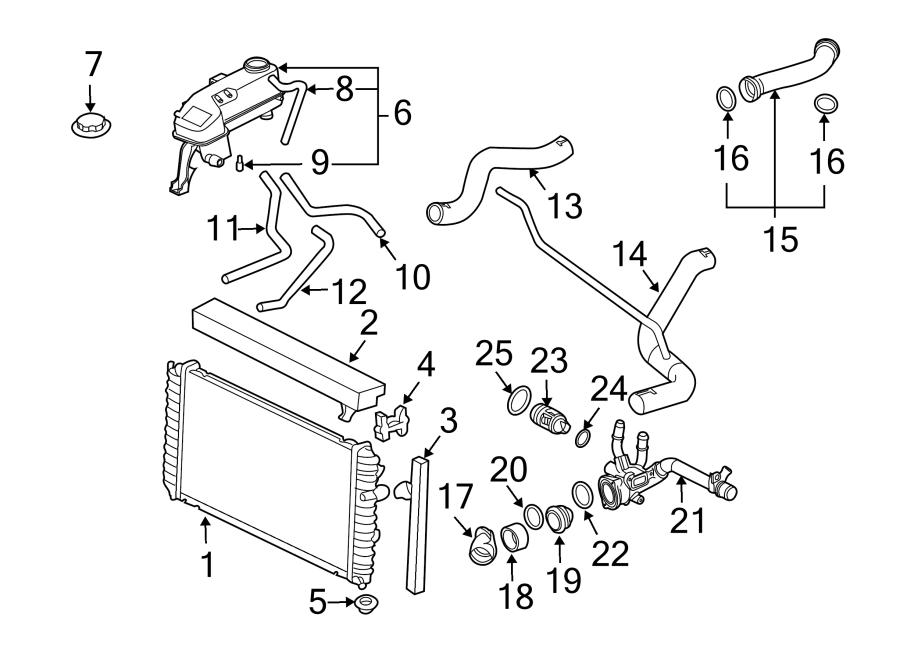 GMC Sierra 1500 Thermostat. Engine. Seal. Coolant. Gasket