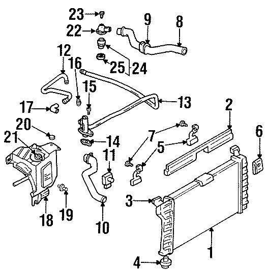 2000 Chevrolet Lumina Thermostat. Engine. Seal. Gasket