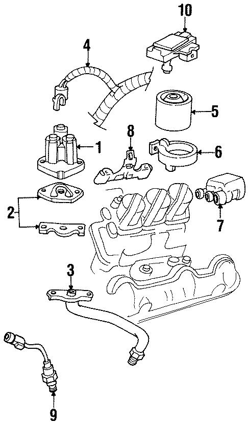 Oldsmobile Cutlass Ciera Oxygen Sensor. LITER, Manifold