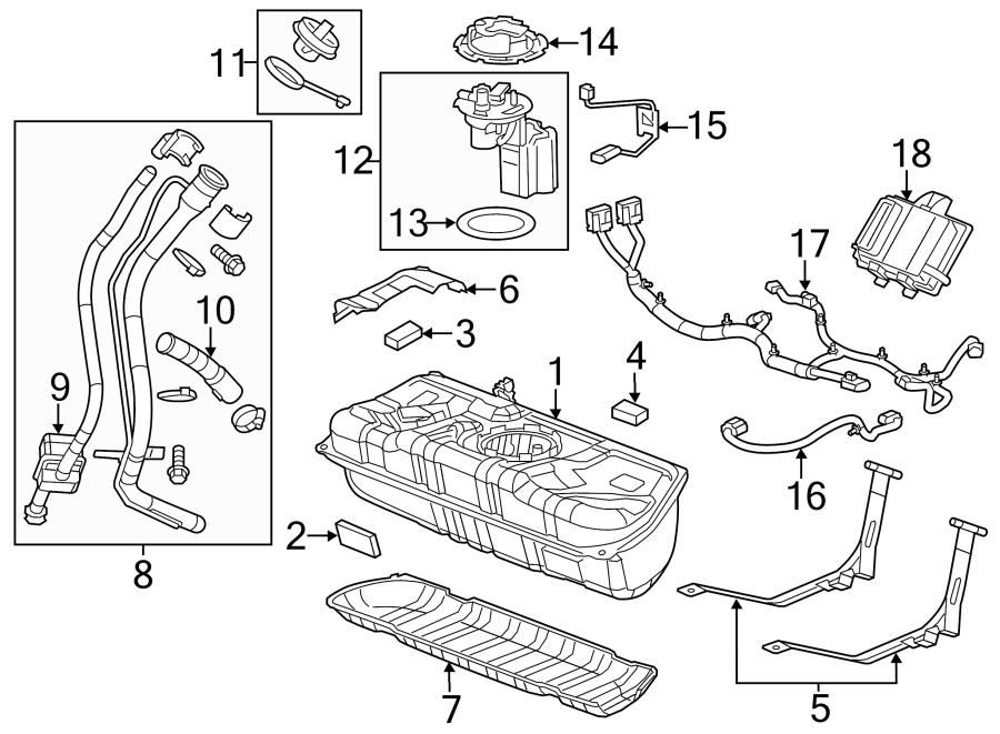 2014 Chevrolet Sonic Fuel Tank Cap. Cap, F/TNK FIL. Fuel