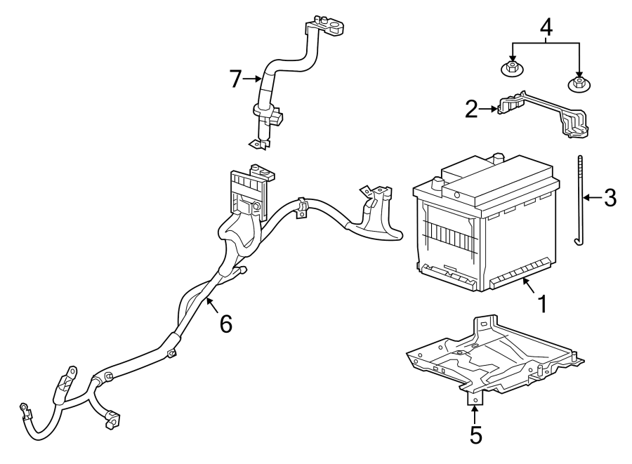 Chevrolet Spark Positive cable. 12 VOLT, W/O EV, manual