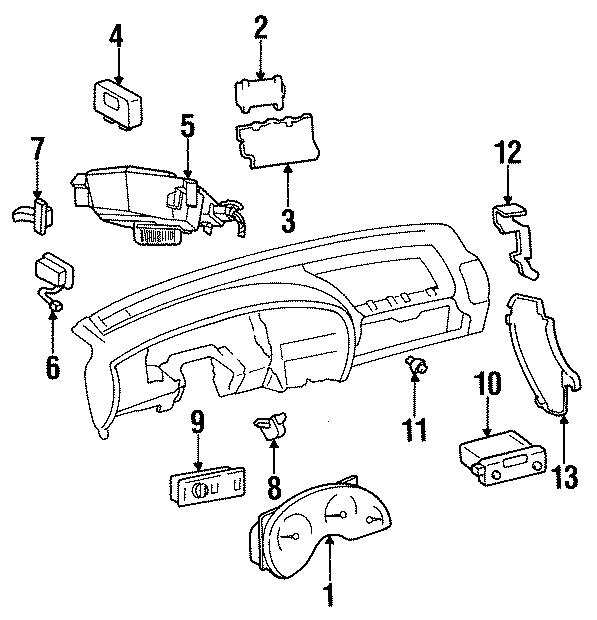 Oldsmobile Cutlass Calais Trunk Lid Release Switch. Models