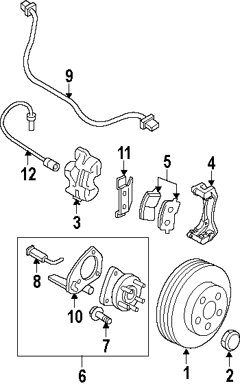 Oldsmobile Silhouette Abs wheel speed sensor wiring