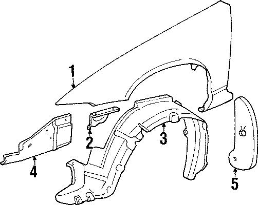 Pontiac Grand Prix Bracket. (Front, Rear, Upper, Lower