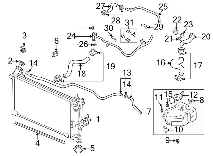 Pontiac Montana Engine Coolant Hose. 3.4 & 3.5 LITER