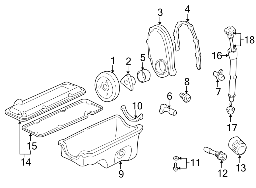 1999 Pontiac Sunfire Engine Crankshaft Position Sensor