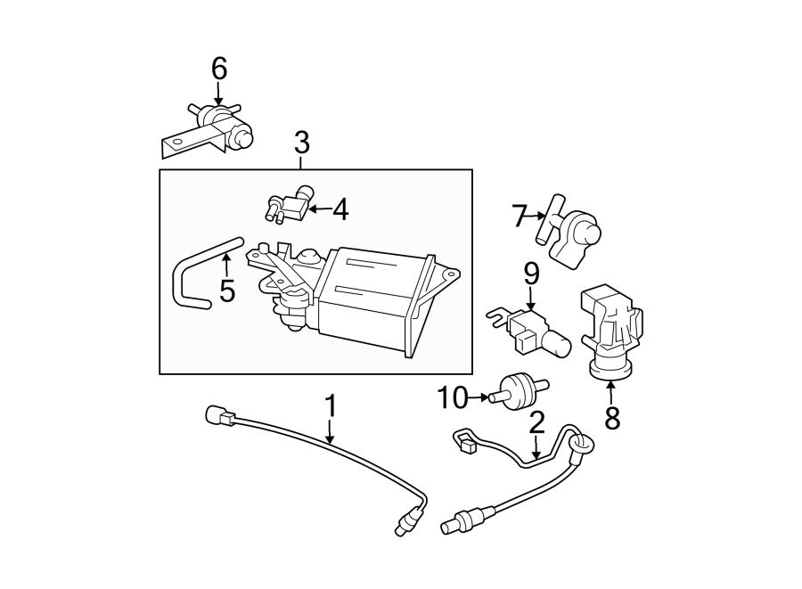 Pontiac Vibe Oxygen Sensor (Front, Rear, Lower). Sensor