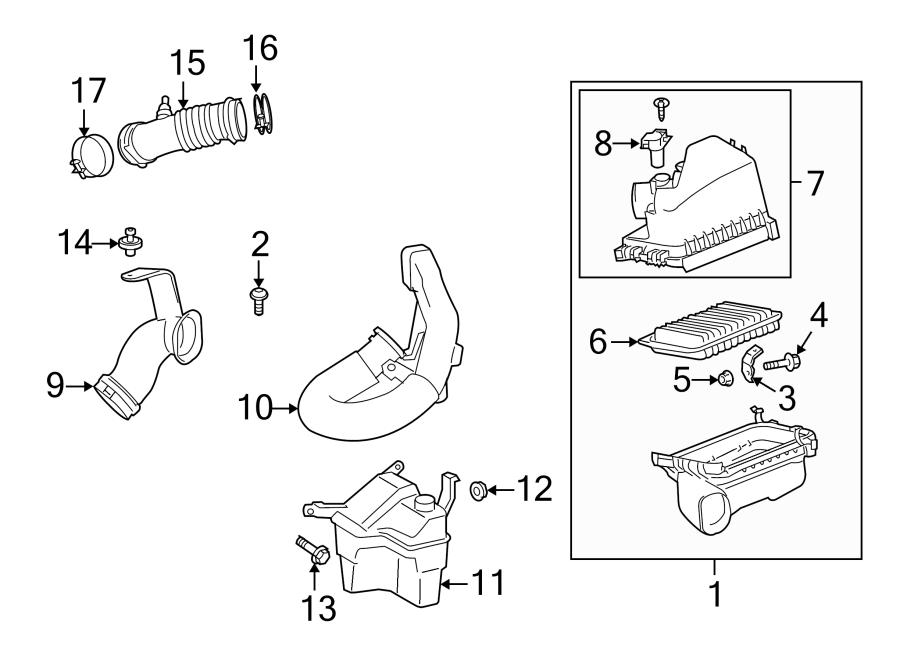 Pontiac Vibe Engine Air Intake Resonator. 1.8 LITER. 2.4