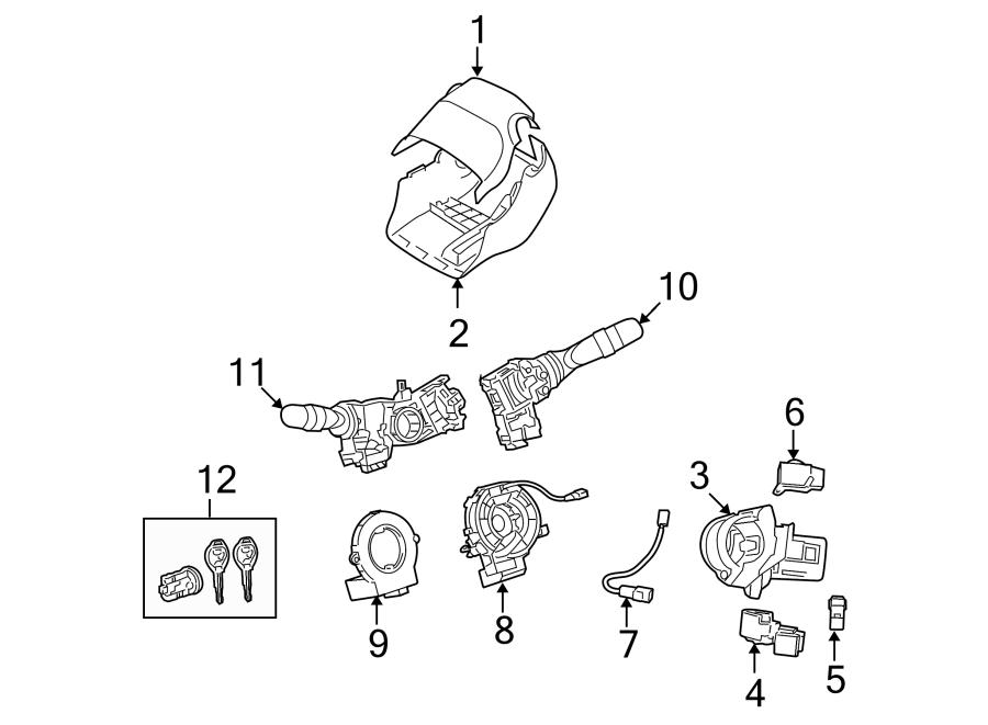 Pontiac Vibe Case, ignition locking cylinder. Ignition