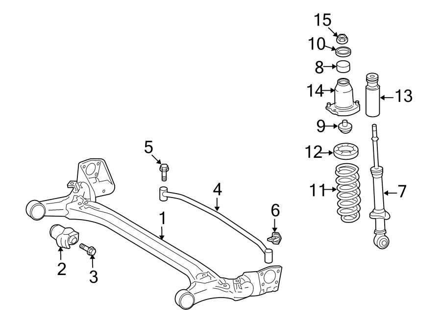 Pontiac Vibe Axle Support Bushing. Vibe. W/O GT