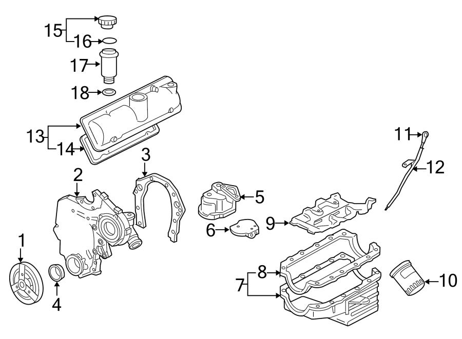 Pontiac Montana Engine Crankshaft Pulley. LITER, Carlo
