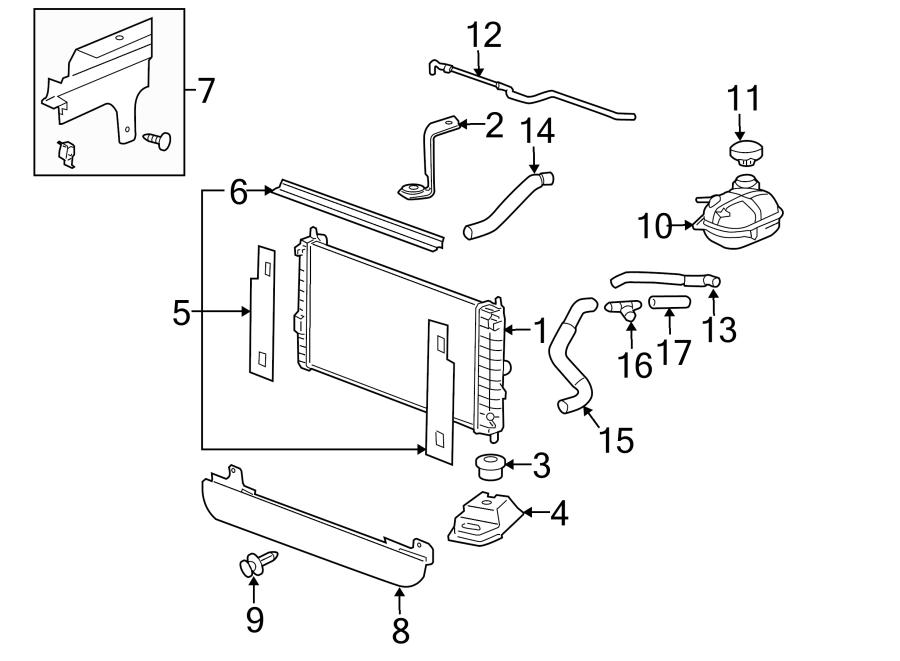 Pontiac G5 Radiator Coolant Hose (Lower). 2.2 LITER