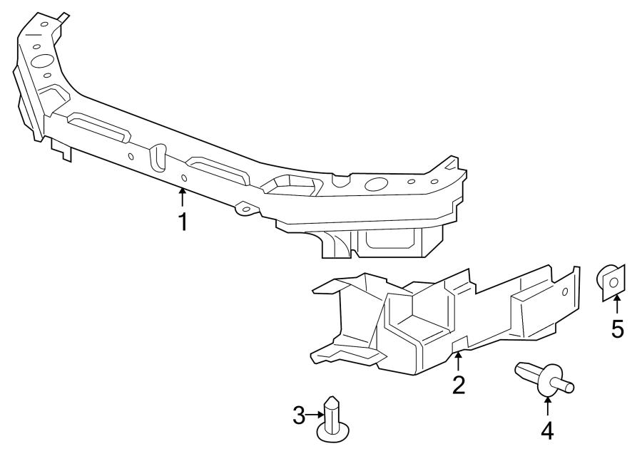 Pontiac G6 Radiator Support Side Panel (Right). 3.5 & 3.9
